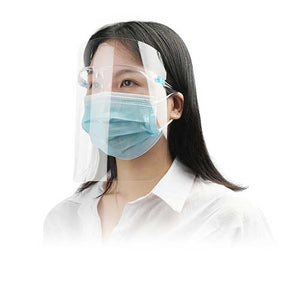 5 Anti-Fog Face Shields with Reusable Frame