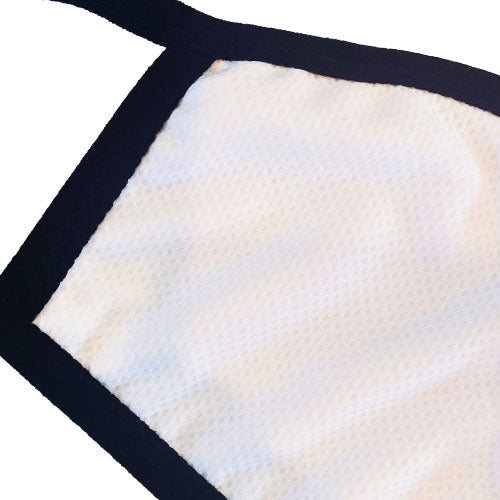 white and black breathable face mask