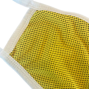 yellow breathable face mask