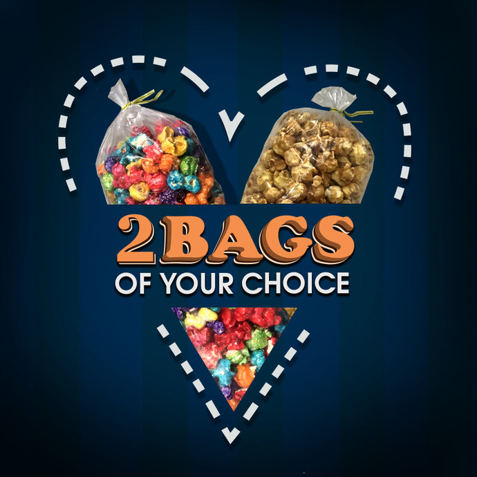 2 Bags of Popcorn of Your Choice
