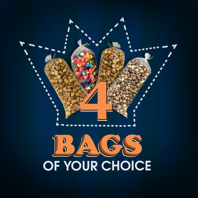 4 Bags of Popcorn of Your Choice