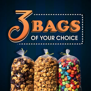 3 Bags of Popcorn of Your Choice