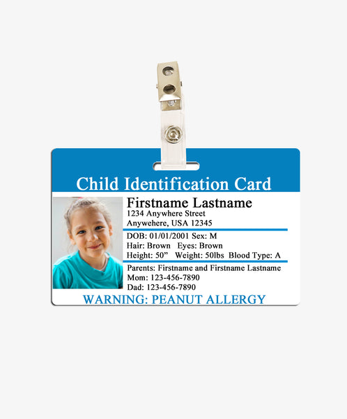Child Identification Card - BadgeSmith
