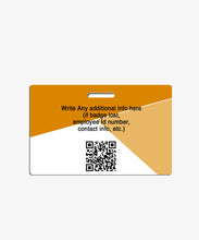 Load image into Gallery viewer, Orange Geometric Office Badge - BadgeSmith
