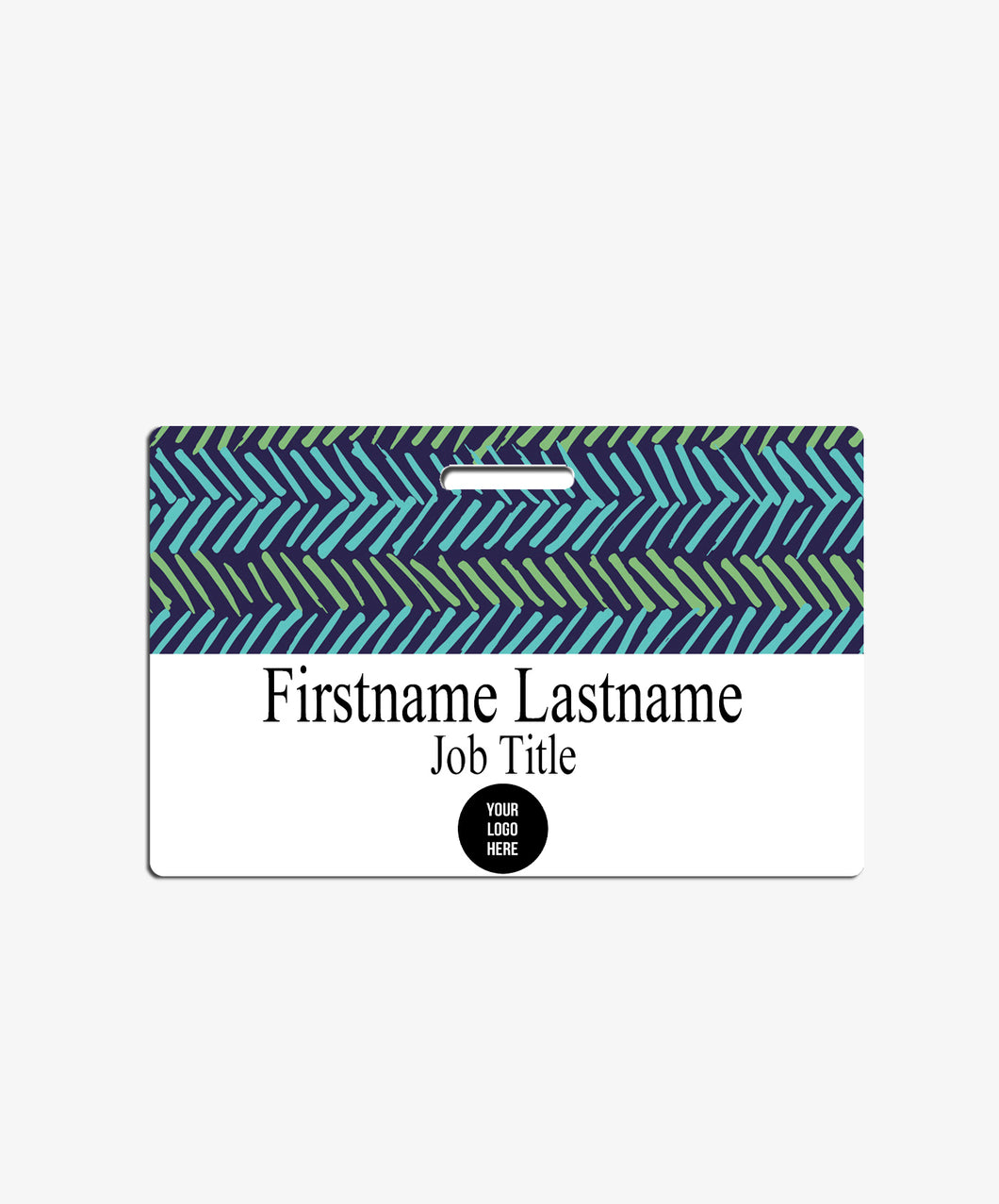Blue and Green Name Badge - BadgeSmith