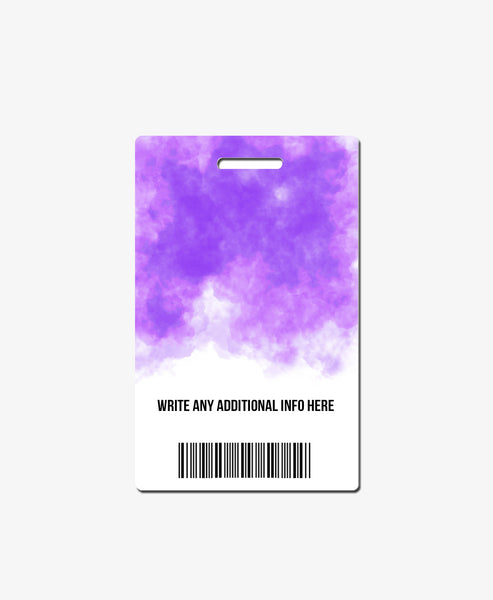Purple Watercolor Office Badge - BadgeSmith