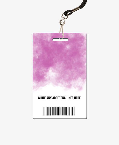 Pink Watercolor Office Badge - BadgeSmith