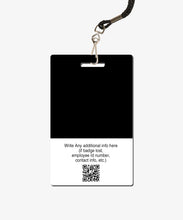 Load image into Gallery viewer, Black Visitor Badge - BadgeSmith