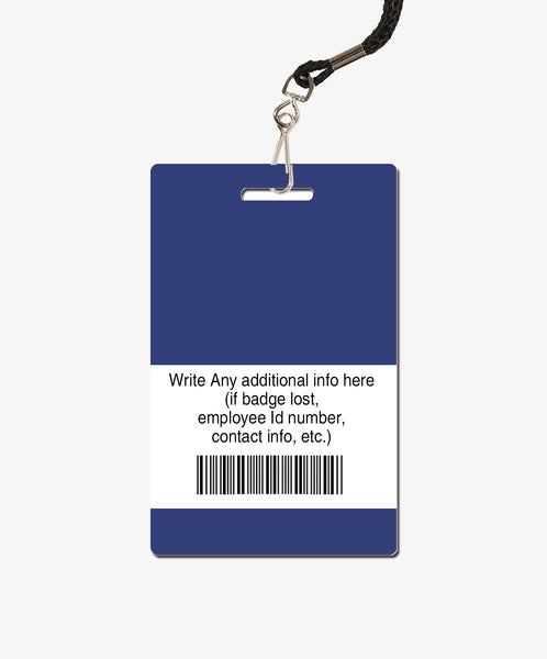 Blue ID Card - BadgeSmith
