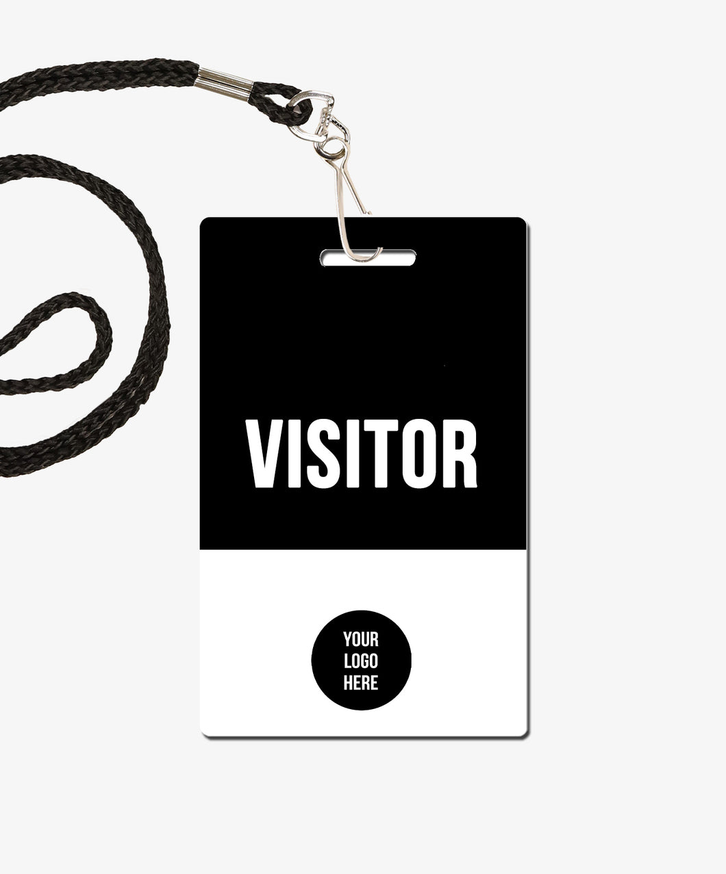 Black Visitor Badge - BadgeSmith