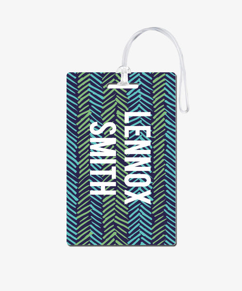Chevron Luggage Tag - BadgeSmith