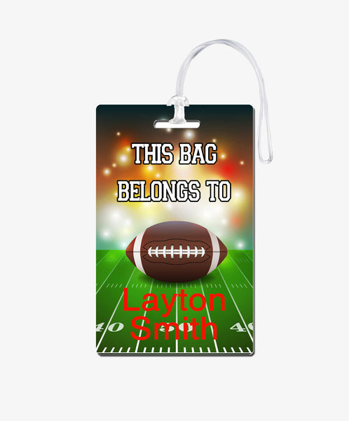 Football Bag Tag - BadgeSmith