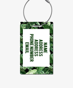 Tropical Palm Luggage Tag - BadgeSmith