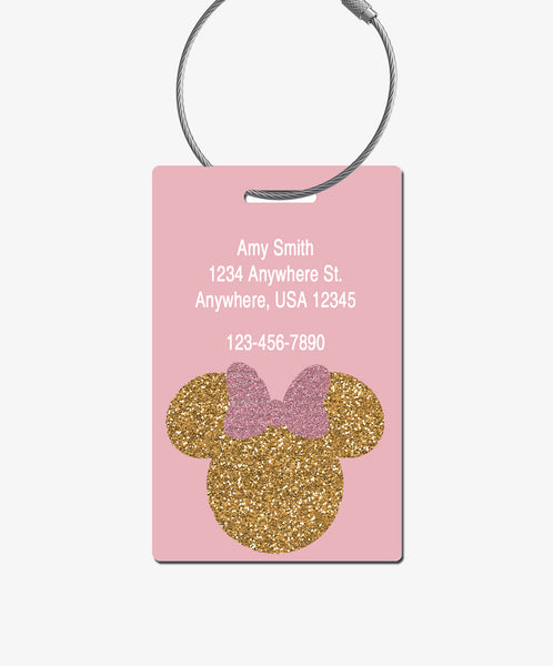 Minnie Mouse Luggage Tag - BadgeSmith