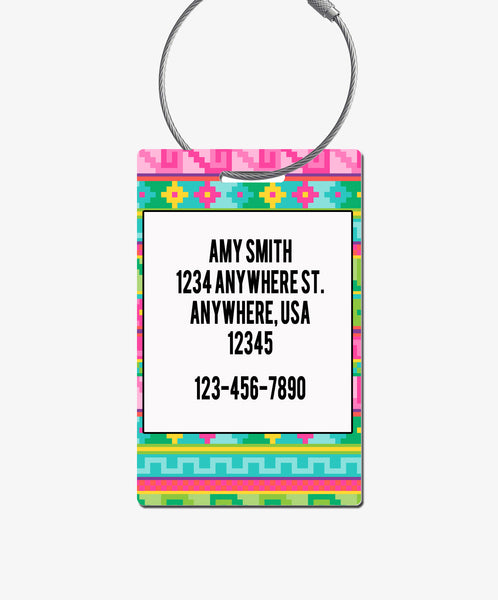 Llama Luggage Tag - BadgeSmith