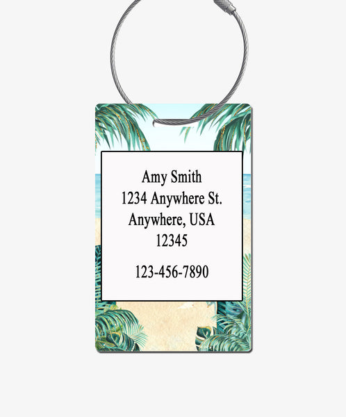 Tropical Luggage Tag - BadgeSmith