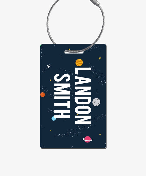 Outer Space Luggage Tag - BadgeSmith