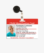 Load image into Gallery viewer, Child ID Badge - BadgeSmith