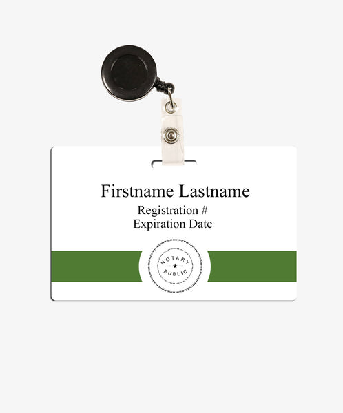 Name Badge For Notary - BadgeSmith