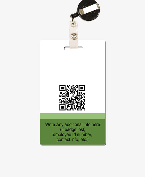 Green ID Badge - BadgeSmith
