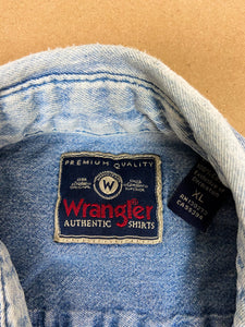 WRANGLER Denim Button Down | XLG
