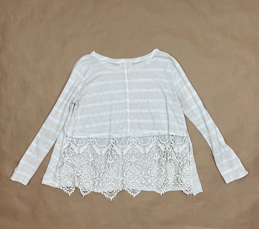 Lace Long-Sleeved Top | SML