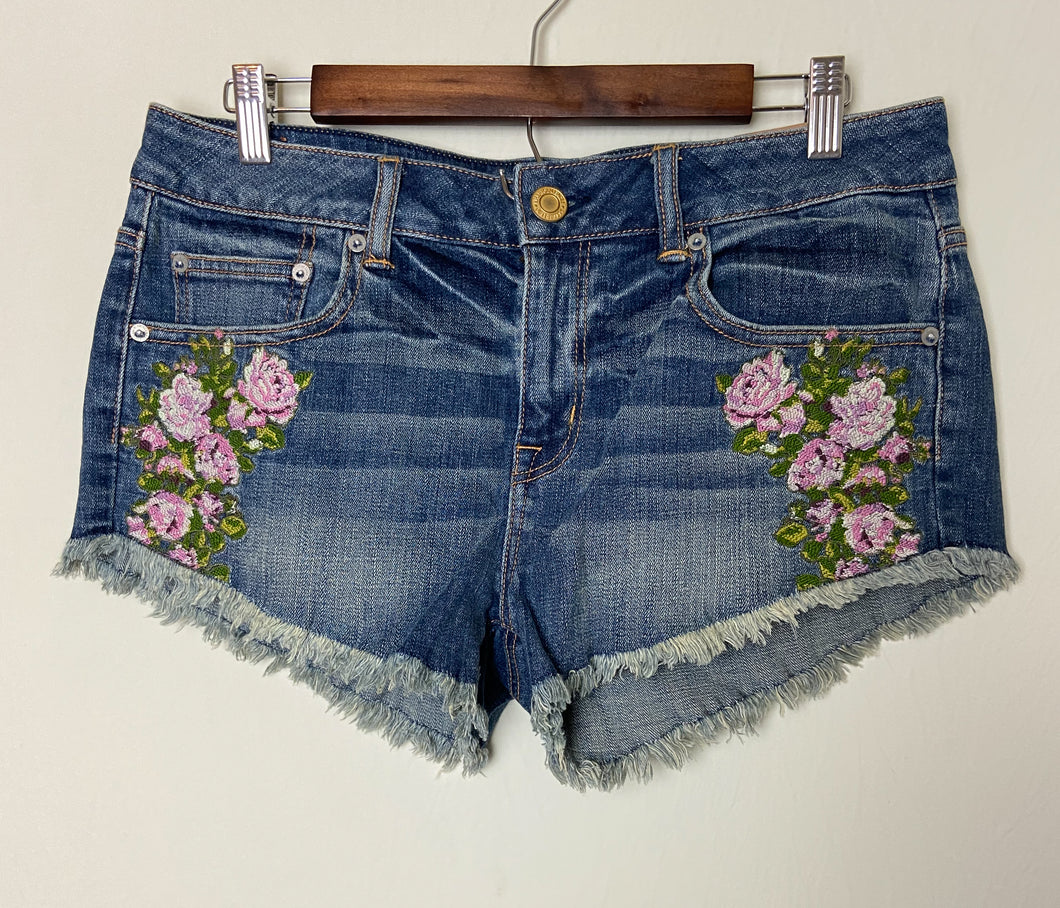 American Eagle Embroidered Shorts | 10