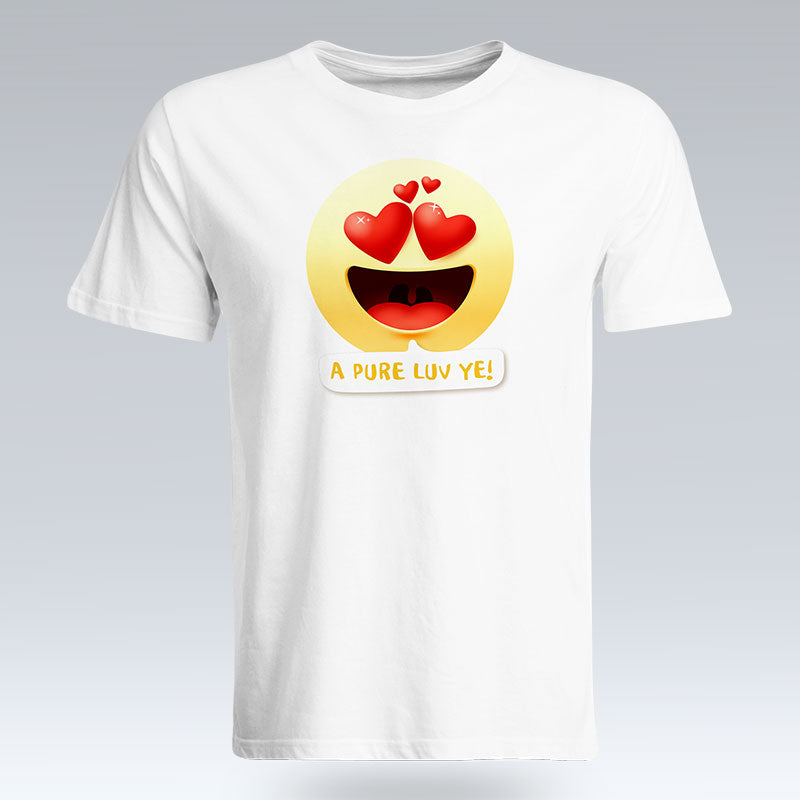 A Pure Luv Ye Emoji Text - T-Shirt