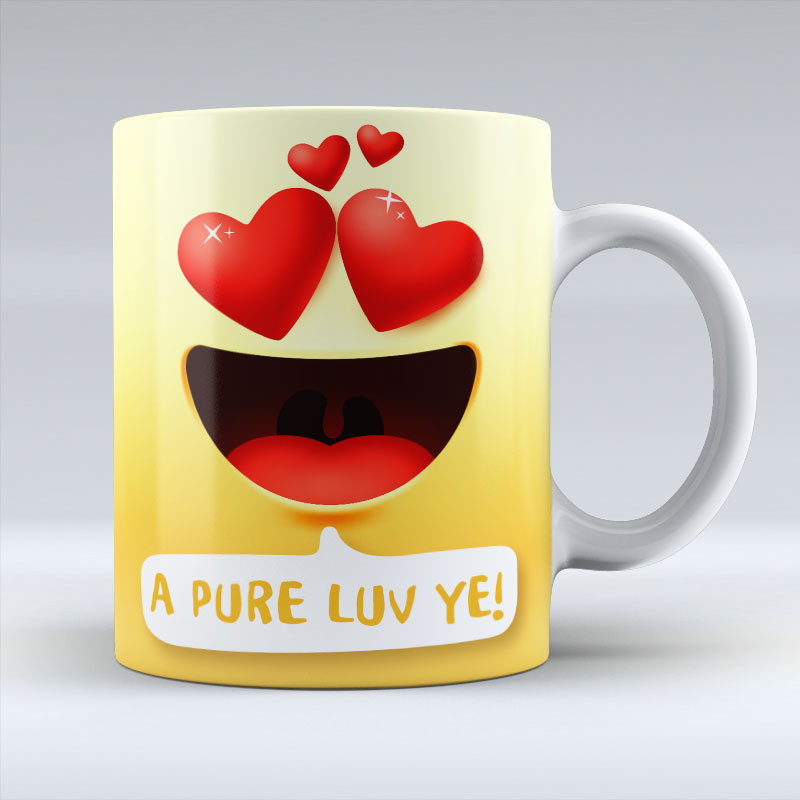 A Pure Luv Ye Emoji Text - Mug