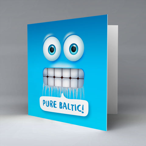 Pure Baltic Emoji Text - Greetings Card