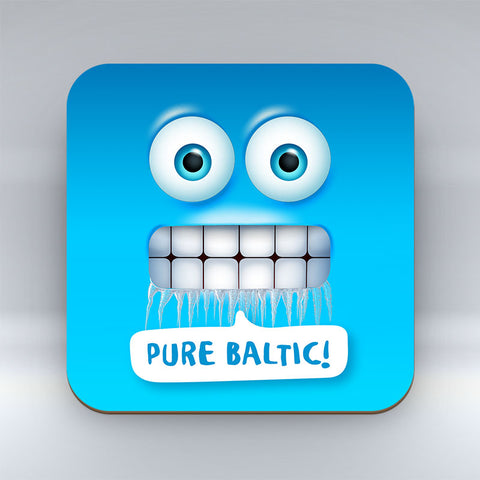 Pure Baltic Emoji Text - Coaster