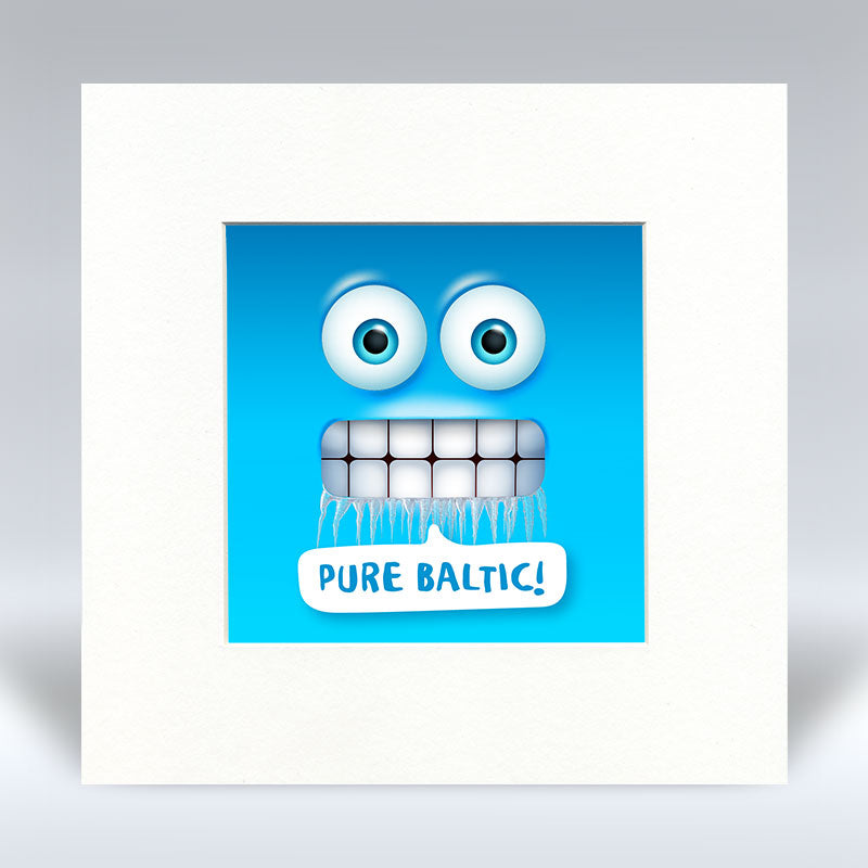 Pure Baltic Emoji Text - Mounted Print