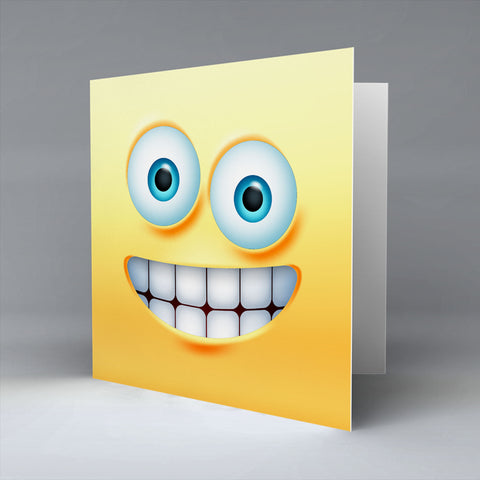 Big Grin Emoji - Greetings Card