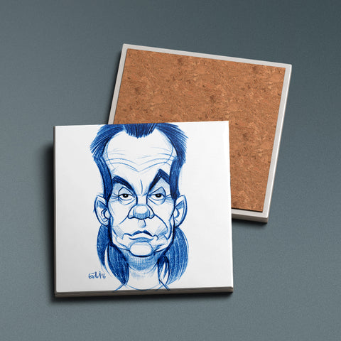 The Barman - Sketched Ceramic Coaster