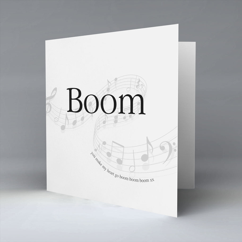 Boom - Greetings Card
