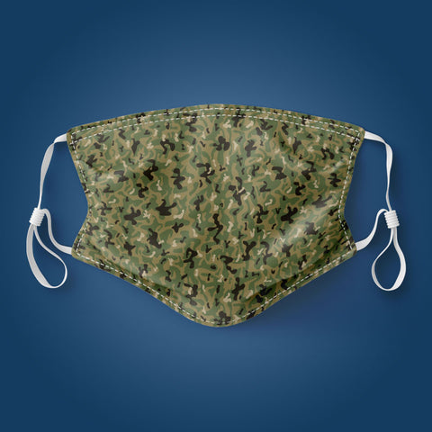 Green Camouflage - Face Mask