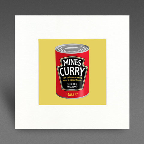 Mines Curry - chicken indaloo - Mounted Print