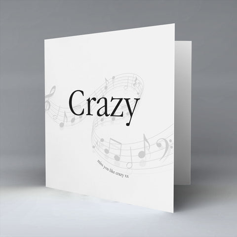 Crazy - Greetings Card