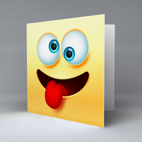 Crazy Emoji - Greetings Card