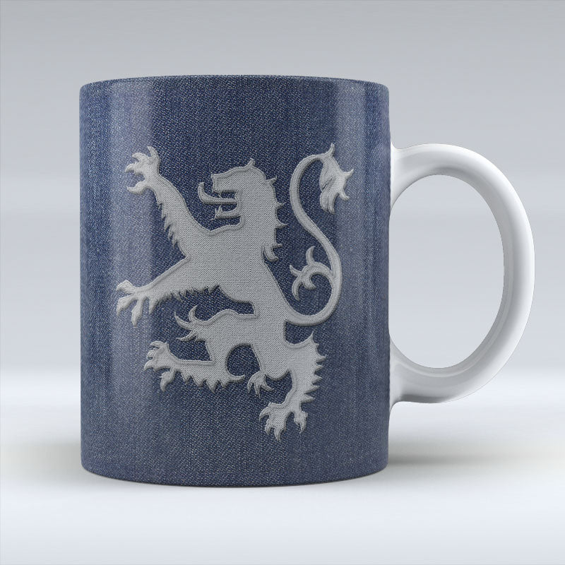Denim Rampant Lion - Mug