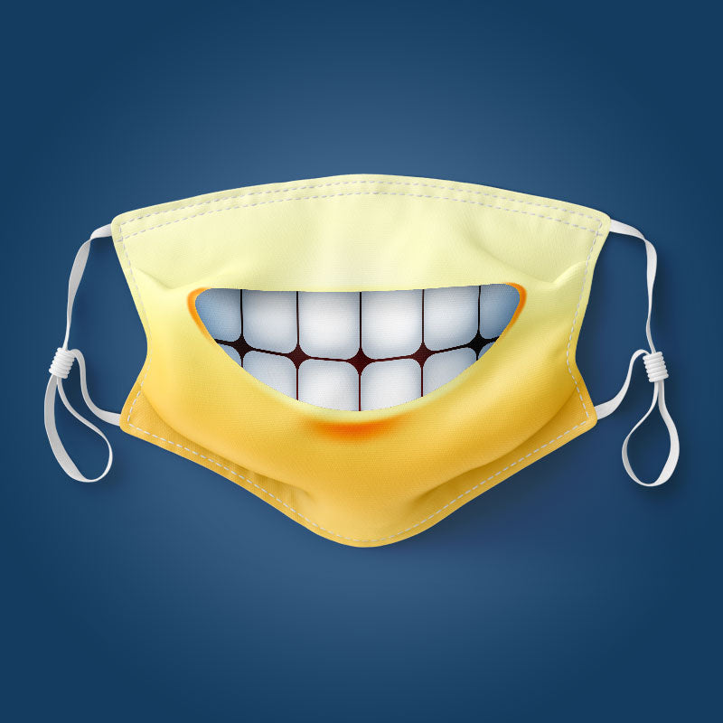 Emoji Big Grin - Mouth - Face Mask