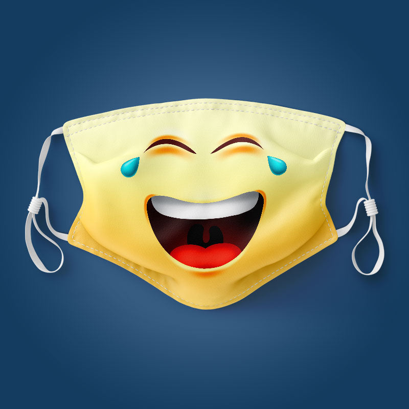 Emoji Crying Laugh - Face Mask