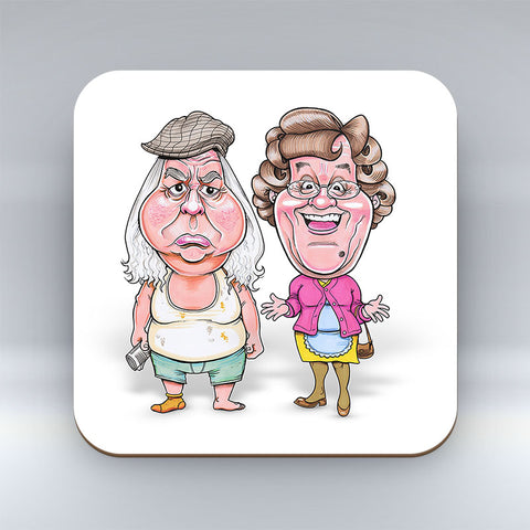 Granda & Mammy Fecker - Coaster