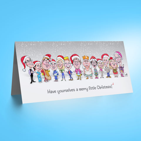 Meet the Feckers - Grey DL Christmas Card