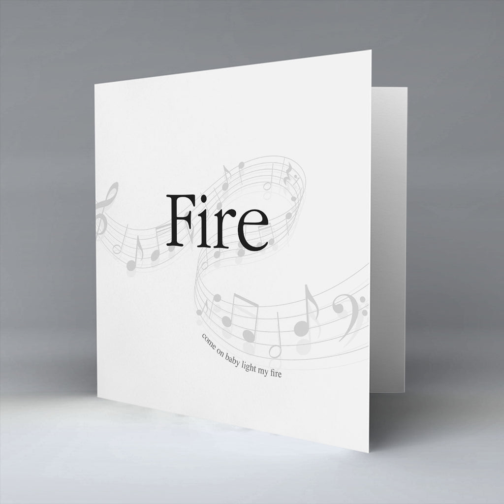Fire - Greetings Card