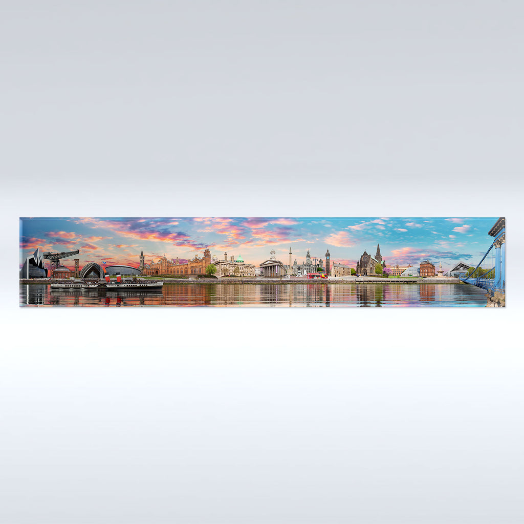 Glasgow Panoramic - Fridge Magnet