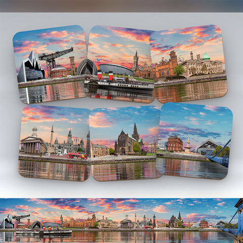 Glasgow Skyline - Set of 6 Coasters