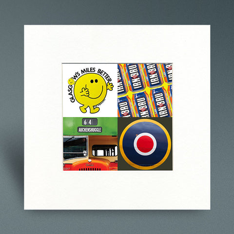 Glasgow Pop Art 4 - Mounted Print