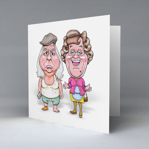 Granda & Mammy Fecker - Greetings Card