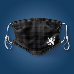 Grey Tartan - Face Mask
